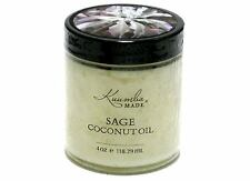 Sage Infused Organic Coconut Oil for Skin & Hair by Kuumba Made - 4 oz size