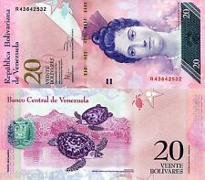 VENEZUELA 20 Bolivares Banknote World Money p91d South America Currency Bill