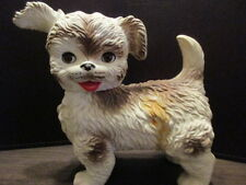 VINTAGE EDWARD MOBLEY ARROW PLASTICS SQUEAKY TOY DOG WITH SLEEPY EYES