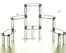Display Stands 6 Tier Acrylic Display Stairs Riser - Size: 3 x 6 x 10 1/4 H