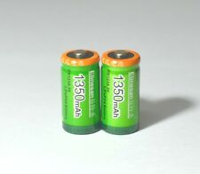 2pcs Etinesan 1350mah Cr123a 3V lithium rechargeable camera flashlight batteries