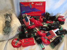 Coca Cola Party Coke Bottles, Rounds, Flags And Machines 14' String Light Set