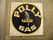 """Vintage Polly Gas Gasoline sticker 9"""" diameter"""