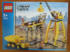 Lego 7243 Construction site, crane, rare set, brand new in sealed box