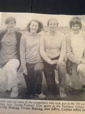 F7-1 Ephemera 1970 Picture Cornwall Young Farmers Jill Hosking Viviene J Jeffery