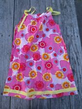 Hanna Andersson ~ Girls Pink Floral Pillowcase Dress ~ NWT ~ Size 140 or 9-11