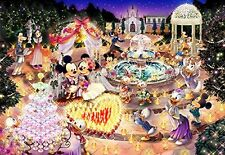 Tenyo Japan Jigsaw Puzzle D-1000-457 Disney Night Wedding Dream (1000 Pieces)