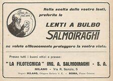 Z0570 Lenti a bulbo La Filotecnica Salmoiraghi - Pubblicità del 1930 - Advertis.