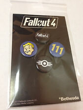 Bethesda Fallout 4 PREORDER Complete Pin Set and POSTER Brand NEW