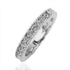 New 18K White Gold GP Solid Wedding Engagement Ring SWAROVSKI Crystal Size 8