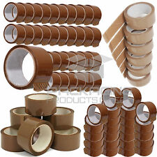 """36 X ROLL BUFF BROWN 48MM X 66M METER PACKAGING PACKING TAPES PARCEL 2"""" TAPE NEW"""