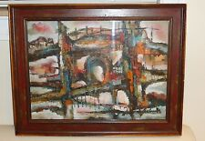ART ABSTRACT PAINTING SIGNED BY THE ARTIST