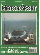 MOTOR SPORT  MAGAZINE JULY 1990  PREVIEW TO THE BRITISH GRAND PRIX   LS