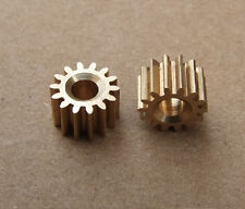10 pcs/lot Mini 3.17 MM Pore 14 Tooth Brass Motor Shaft Gear DIY Toys Parts K093