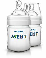 Philips Avent Classic+ Feeding Anti-Colic Baby Bottle 260ml/9oz Twin SCF563/27