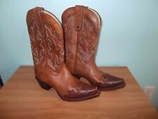 TONY LAMA WOMENS BOOTS-SANTA FE TAN BROWN-LEATHER-7 M-WESTERN-EUC-VF6003 VAQUERO