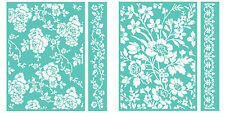 Cuttlebug Anna Griffin Embossing Folders & Borders ROSA and WILDFLOWER GATE  NIP