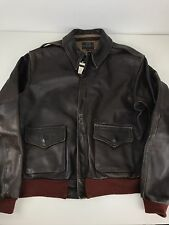 AERO BROWN GOATSKIN LEATHER A2 WW2 REPRODUCTION MENS BOMBER FLIGHT JACKET 40