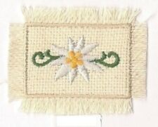 German Swiss Edelweiss Flower Embroidery Applique Patch