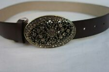 Style & Co Belt Sz S Brown Embellished Buckle Non Leather Material Belt SC658