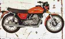 MotoGuzzi V50 1976 Aged Vintage Photo Print A4 Retro poster