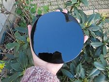 BLACK OBSIDIAN SCRYING MIRROR POLISHED CRYSTAL DIVINATION 14.5 X14.5x.5 CMS 274g