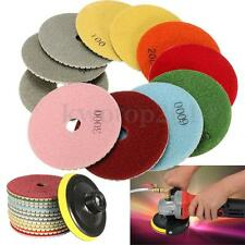 12PCS Diamond Polishing Pads Wet Dry 4 Inch Set Kit For Granite Concrete Marble