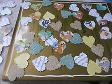 75 DISNEY BAMBI  LARGE PAPER HEARTS TABLE BABY SHOWER CONFETTI DECORATIONS