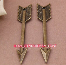 P740 6pc Antique Bronze arrow Pendant Bead Charms accessories wholesale
