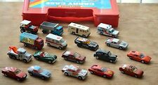 Job lot of 18 matchbox from 70`-80`- all cars,carry case are branded matchbox.