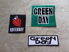SET OF THREE MUSIC SEW ON / IRON ON PATCHES:- GREEN DAY