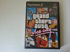 PS2 Grand Theft Auto Vice City with map