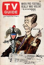 1968 TV Guide August 31 - Johnny Carson;Isaac Asimov;G.D. Spradlin;Nam June Paik