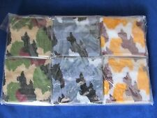 Set of 12 Camo Sports Athletic Sweat Wristbands 3""