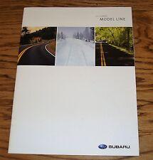Original 2007 Subaru Full Line Sales Brochure 07 Outback Forester Impreza