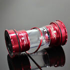 New FIRST Road / MTB Bike External Bearings Bottom Bracket For Shimano , Red