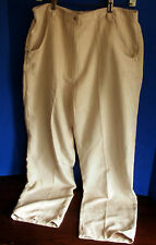 JORDAN BlueLabel~Beige Faux SUEDE PANTS~Women's Large