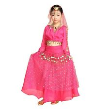 Girls Kids Belly Dance Costume Outfit Pants Bollywood Indian Carnival Children