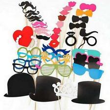 44pcs Party DIY Photo Booth Props Mask Glasses Mustache On A Stick Wedding Favor