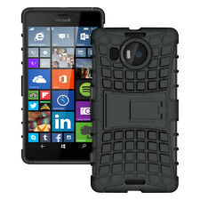iDefend Microsoft Lumia 950XL Black Heavy Duty Shockproof Case Cover Protector