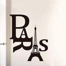 Paris Eiffel Tower Mural Removable Wall Stikcers Home Decor  Room  DIY Decals