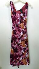 AXCESS by LIZ CLAIBORNE Womens Sz L fitted SUNDRESS Floral Cruise Vacation