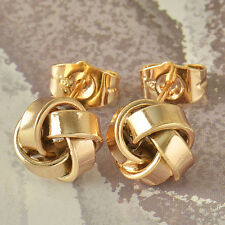 Authentic Yellow Gold Filled forever Love Womens cute small Stud Earrings LOT