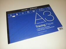 2 x A3 Tracing Paper Pad 60gsm Daler Rowney 100 sheets
