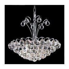"Palace Blossom 18"" 8 Light Crystal Chandelier Light - Chrome lighting Fixture"