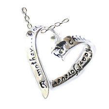 """Great Gift for Mom Mother Holds Childs Heart Necklace Sterling Silver 925, 18"""""""