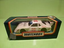 MATCHBOX K-6 ZAKSPEED FORD MUSTANG - RACE No 28 -  WHITE - EXCELLENT IN BOX