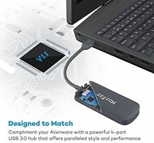 Hootoo Ultra Slim 4-Port USB 3.0 HUB (5Gbps velocità di trasferimento, Mac e Windows OS