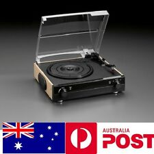 3 Speed Turntable Retro Record Player w USB AUX Built in Speaker Birthday Gift
