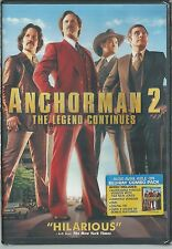 NEW IN PACK ANCHORMAN 2: THE LEGEND CONTINUES DVD (2014) WILL FERRELL, PAUL RUDD